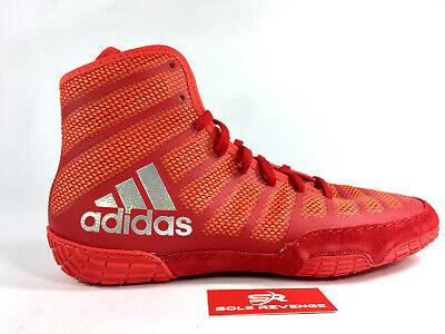ADIDAS adizero VARNER 2 Wrestling Shoes MMA Boxing Red Silver Gray BA8023 cd1 | eBay