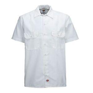 s Tempo Bianca Per Dickies Lavoro Libero Short Camicia Il Business qw5Ta4C