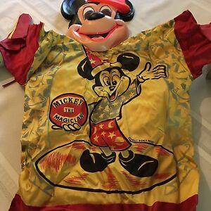 Vintage Ben Cooper Walt Disney Halloween Costume Mask Mickey Mouse Complete MIB