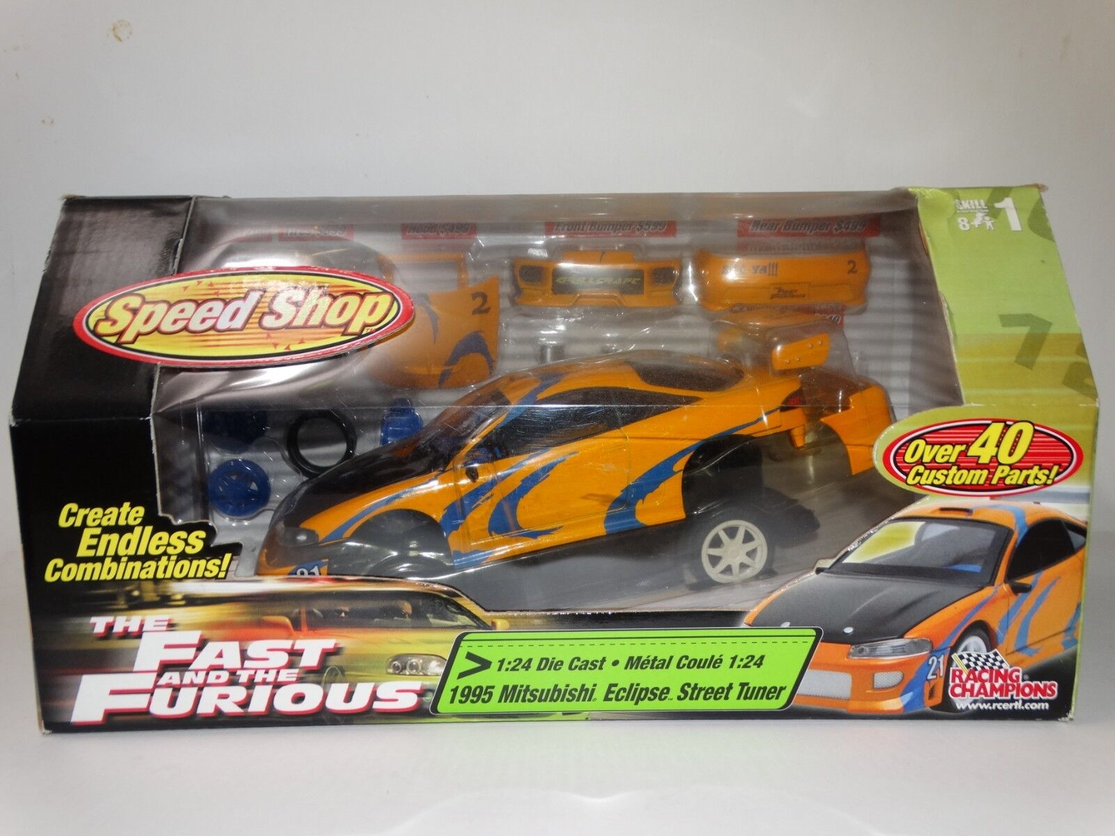 Ertl Fast And Furious 1995 Mitsubishi Eclipse Tuner 1 24 Diecast Model Car Kit