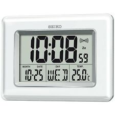 Seiko Digital Large LCD Display Desktop/Wallmount Clock with Temperature QHL058W