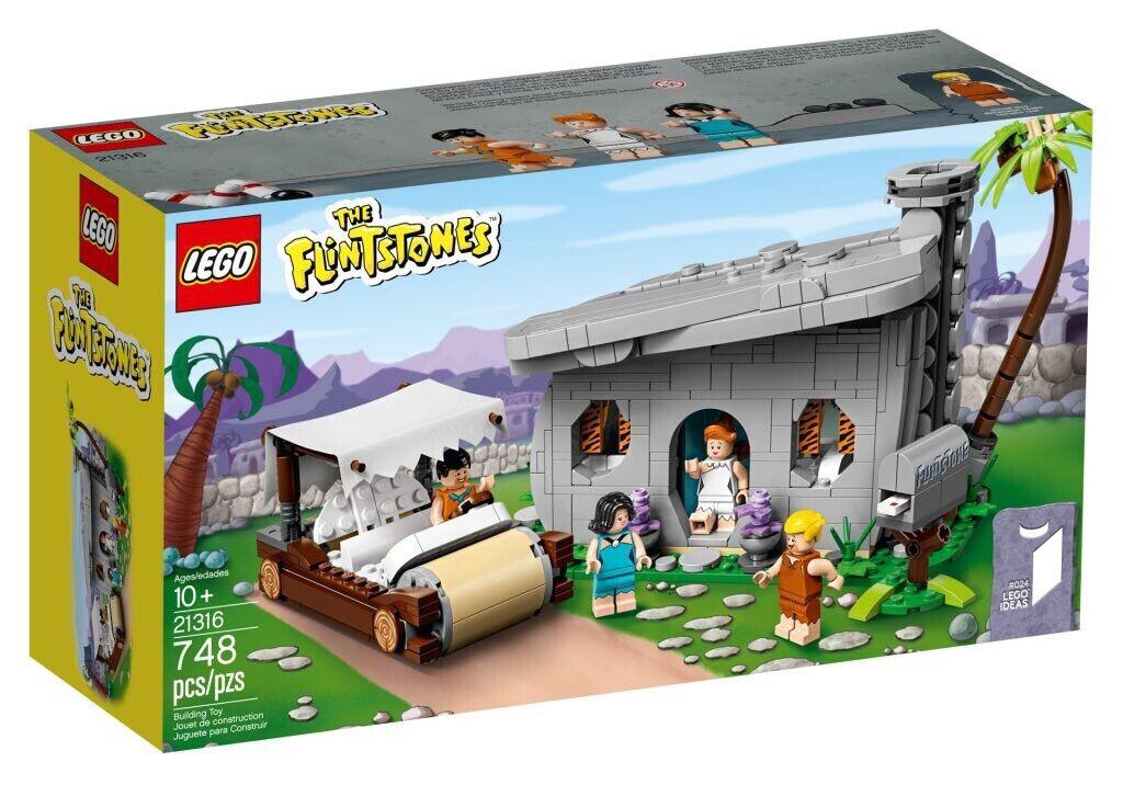 LEGO IDEAS 21316 THE FLINTSTONES NUOVO ANTENATI FRED PREISTORIA RARO