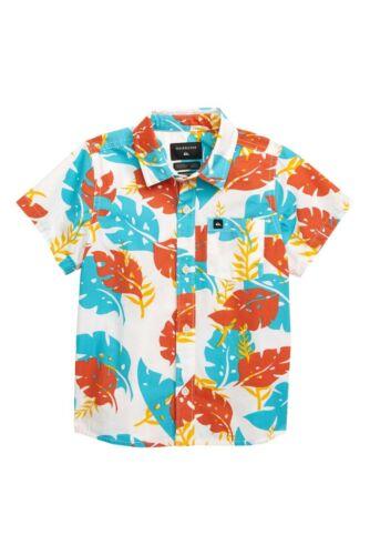 Quiksilver Surf Brand Big Boy/'s Short Sleeve Hawaiian Button Front Shirt M//L//XL