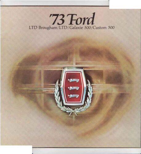 1973 FORD US Full-Size Range Large Format Brochure LTD BROUGHAM GALAXIE etc