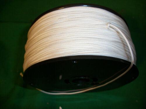 550/' 100/% NYLON BRAIDED ROPE CORD STRING 1.4mm  WHITE