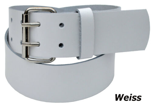 Leder Guertel Belt  5cm Breit 2 Dorn Wählbar Länge und Farbe