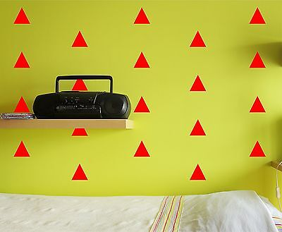 Triangle Wall Decal Set removable stickers kids nursery children decor art room