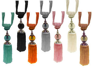LARGE-PRISM-BALL-TIE-BACKS-CURTAIN-ROPE-TASSEL-TIEBACK-HOLDBACK-SINGLE-OR-PAIR