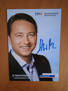 Autogrammkarte # Politik # FPO # Dr. Manfred Haimbuchner