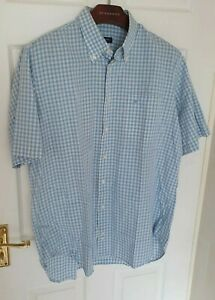 Chic-para-hombre-London-De-Burberry-Mangas-Cortas-Camisa-Tamano-XL-Inmaculada-RRP-175