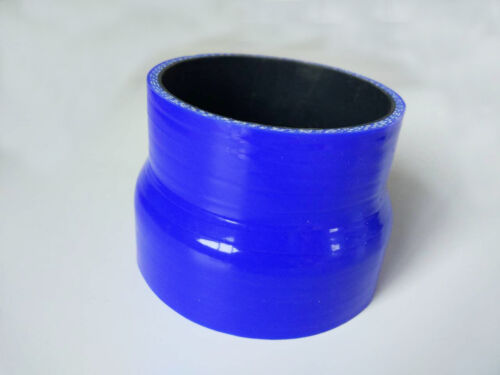 "Blue 3.5/""  to 4/"" ID 89//102mm Silicone Straight Reducer Intercooler Hose Turbo"