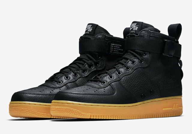 plus récent 00f9a 41697 Nike SF Af1 Air Force 1 One Mid Sz 10.5 Black Gum Brown Field Boot 917753  003
