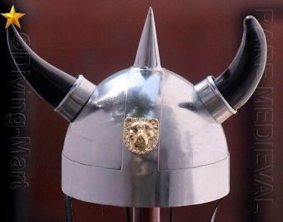 Nordic Viking Warrior Helmet with Horns Pencil Pen Organizer Zipper Pouch Case