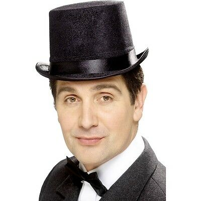 ADULTS TOP HAT FANCY DRESS STAG PARTY VICTORIAN MAGICIAN UNISEX ACCESSORY