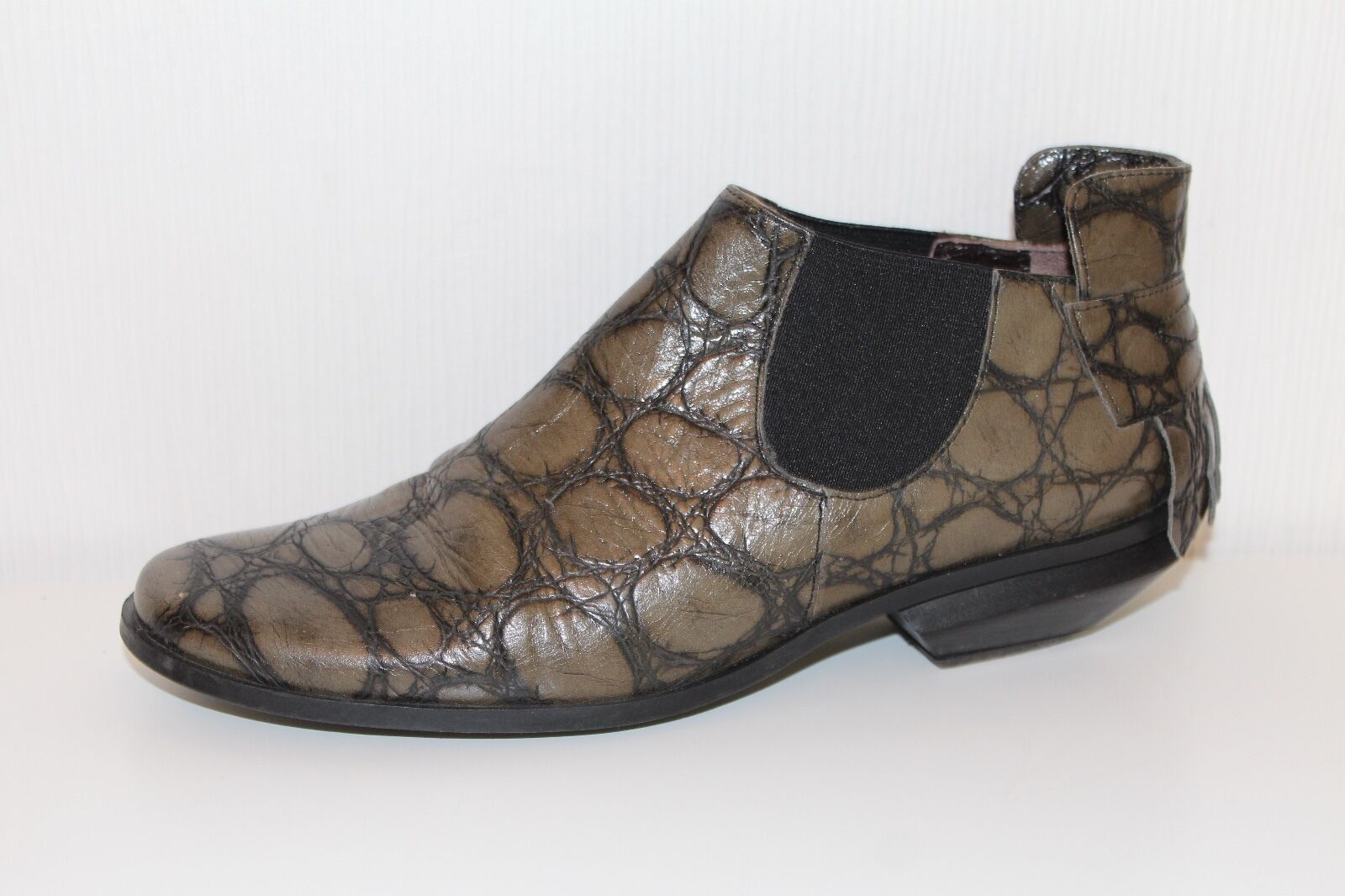 LISA TUCCI ECHTLEDER STIEFELETTEN Stiefel Leder Ankle Stiefel STIEFELETTEN 37 BOOTIES Schuhe Designer fdd7ae