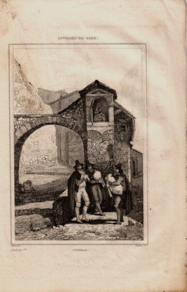 1700 Svendita Collezione Stampe Antiche Zampognari