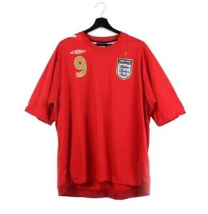 2006 2008 UMBRO England away jersey soccer t-shirt tshirt Rooney 9 XL XXL