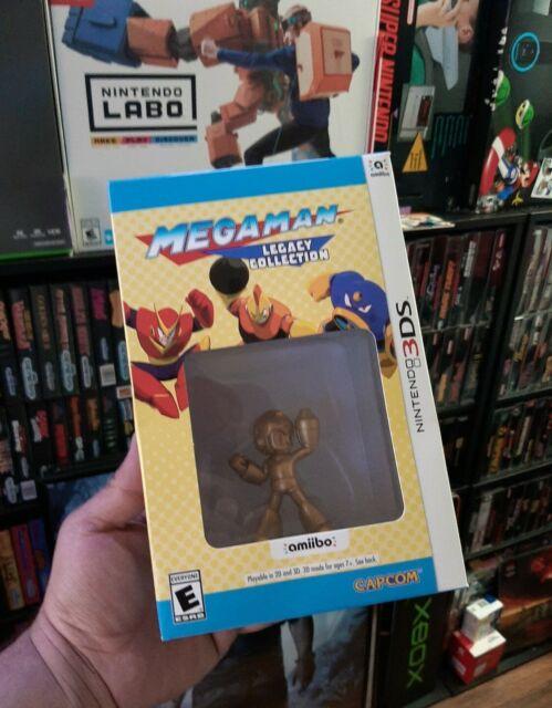 Mega Man Legacy Collection w/ Gold Amiibo (Nintendo 3DS) NEW Sealed