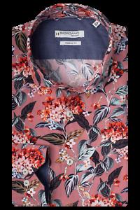 Giordano 207835 Col 50 rose poudré imprimé floral shirt