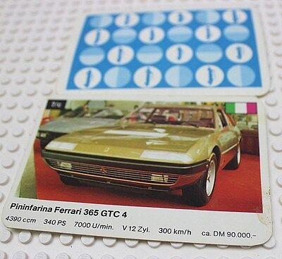Auto Quartetto Gioco Di Carte Carta Singola 7 C Pininfarina Ferrari-mostra Il Titolo Originale