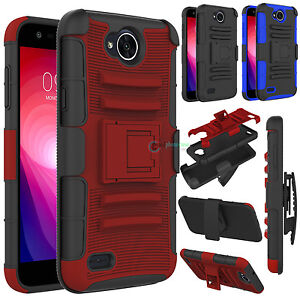 size 40 627b2 17397 Details about Shockproof Belt Clip Holster Hard Phone Case Cover For LG X  Charge / Fiesta LTE