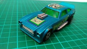 Matchbox-Reyes-velocidad-K-60-Ford-Mustang-MKII-Verde-Windows-Azul-automovil-de-fundicion