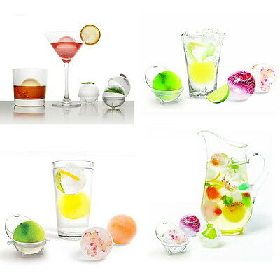 4Pcs Party Bar Plastic Cute Ice Cube Ball Tray Round Maker Sphere Mold Mould FE