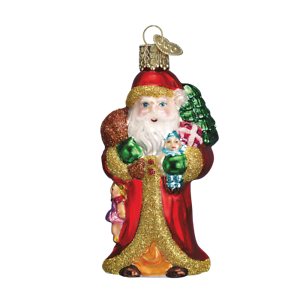 Old-World-Christmas-FATHER-CHRISTMAS-WITH-GIFTS-40040-N-Glass-Ornament-w-Box