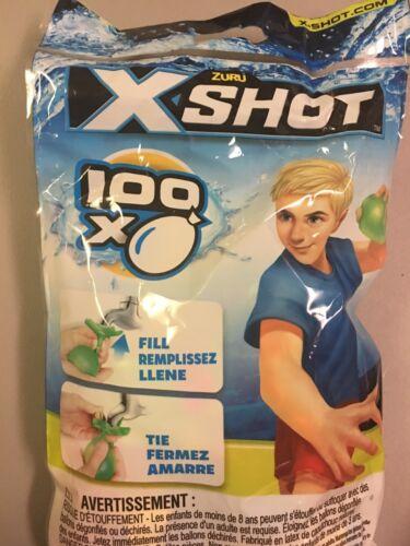 Lot Of 10 Ten Zuru X-Shot 100 Water Balloons w// Refill Spigot//Faucet Adapter New