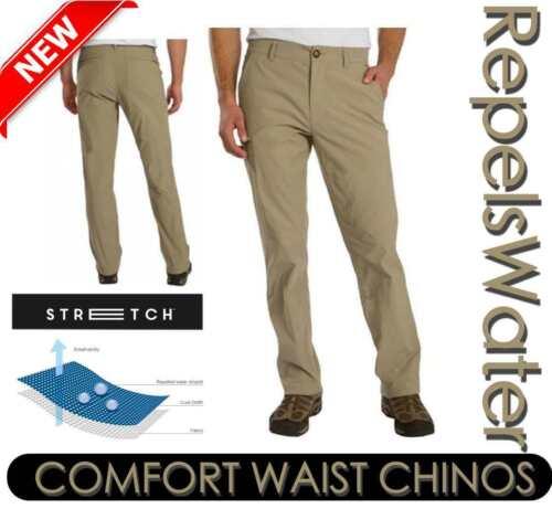 Union Bay UB Tech Da Uomo Da Viaggio Pantaloni Classic Fit Comfort Girovita Chino varietà