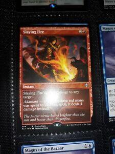 English-Slaying Fire Dark Frame Promo-Promo Pack Throne of El MTG-1x-NM-Mint