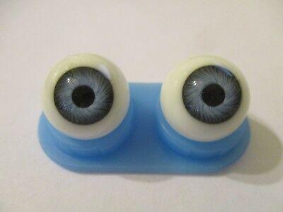 20 mm Vintage Blue Glasaugen Glass Eyes 12 mm Iris W Germany Doll Mannequin