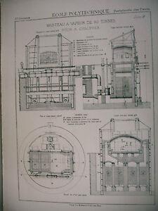 Planche Science école Polytechnique Marteau à Vapeur 80 Tonnes Four à Chauffer Llumw7j4-10042613-212117077