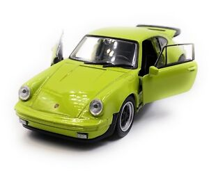 Porsche-911-Turbo-930-Sports-Car-Model-Car-Car-Green-Scale-1-3-4-Licensed