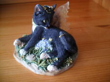 Faerie Glen Faerie Tails Fairy Cat Figurine Black  Cat Zoe Boxed