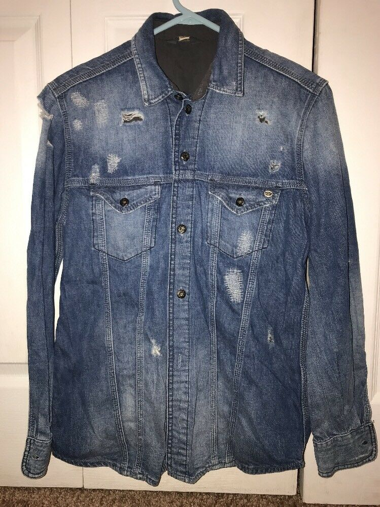 Diesel Industry Womens Jeans Top Size  S So Fashion Light bluee  Distress