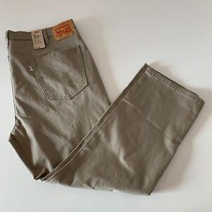 New Levi's 541 Athletic Taper Men's Khaki Chino Pants Size 40 X 30