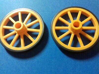 PLAYMOBIL Western Roue avant D45x5 couleur jaune pour canon  boîte 5249