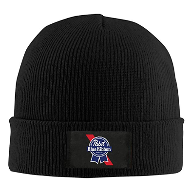Knitted Hat Headwear for Mens Womens Aily Solid Color Pabst-Blue-Ribbon-Beer