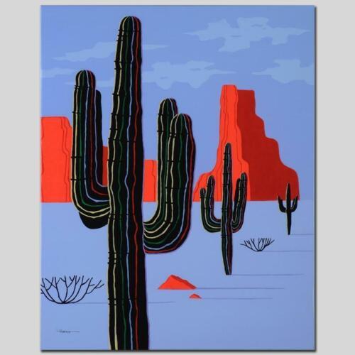 "Larissa Holt /""Cacti/"" Limited Edition Giclee on Canvas"