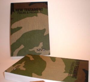 Details about LOT OF 2 ~ CAMO COLORED POCKET NIV NEW TESTAMENT PSALMS &  PROVERBS ~ BRAND NEW