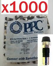 LOT 1000 Coax Connectors RG6 Cable Compression Outdoor PPC Fittings Coaxial HDTV