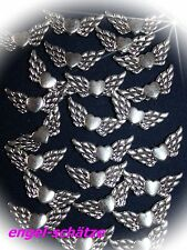 30 x Engel-Flügel m. Herz, Antik-Silber, 22x10mm,  Metallperle, Spacer, Engel,