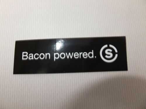 """Bacon Powered 3/"""" SKRATCH  LABS Bike Ride Run Bicycle Outdoor  STICKER DECAL"""