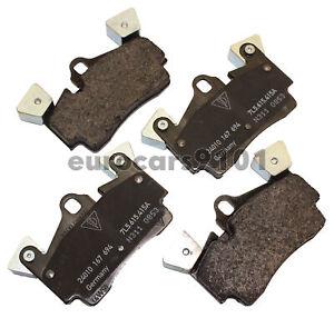 For Porsche Cayenne Turbo 05-06 Front /& Rear Brake Pad Set /& Sensors Bosch//Hella