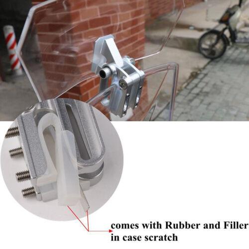 Adjustable Clip On Windshield Extension Spoiler Wind Deflector W// Bracke Motors