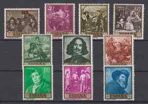 ESPANA-1959-NUEVO-SIN-FIJASELLOS-MNH-EDIFIL-1238-47-PINTOR-VELAZQUEZ