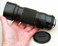 APO SIGMA 300mm f4.5 MF lens CY mount VGC w Case Clean Optics Canon Nikon