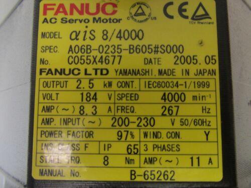 AC Servo Motor A06B-0235-B605 #S000 Fanuc 44473ISU