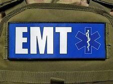 """3x8"""" EMT Blue Medic Morale Hook Plate Carrier  Patch EMS Ambulance"""